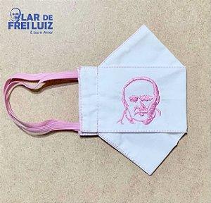 Máscara personalizada Bordada Frei Luiz rosa busto - modelo 3D