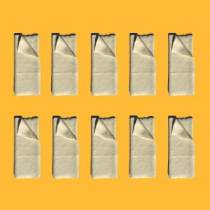 Kit 10 absorventes de melton dobráveis