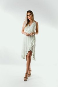 Vestido Resort Light Green