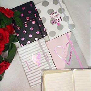KIT C/4 CADERNINHOS LOVE