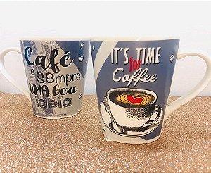 CANECA IT'S TIME FOR COFFEE AZUL - UNIDADE