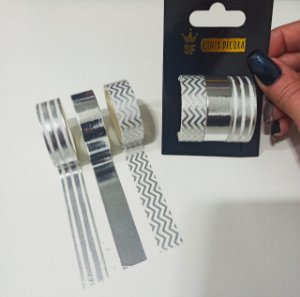 BLISTER WASHI TAPE SILVER C/3 ROLOS