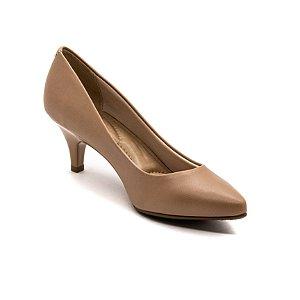 Sapato Salto Beira Rio Feminino Nude