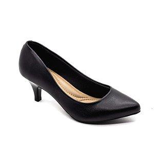 Sapato Salto Beira Rio Feminino Preto