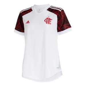 Camisa Oficial Adidas CR Flamengo 21/22 Feminina Branca