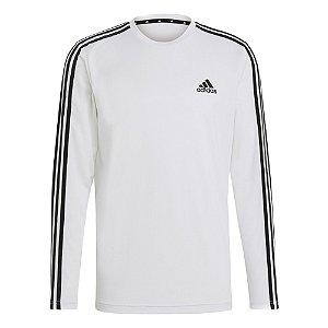 Camisa Adidas Designed To Move Aeroready 3-Stripes Masculino Branca