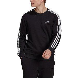 Moletom Adidas Essentials 3-Stripes Masculino Preto