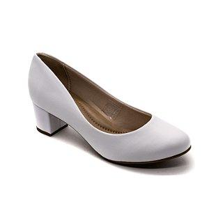 Sapato Salto Beira Rio Feminino Branco