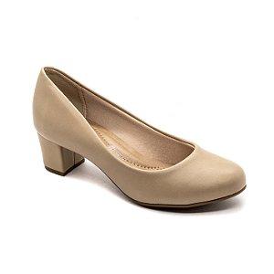 Sapato Salto Beira Rio Feminino Bege