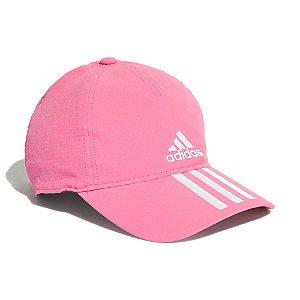 Boné Adidas Baseball Aeroready 3-Stripes Masculino Rosa