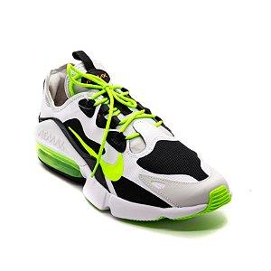 Tênis Esportivo Nike Air Max Infinity 2 Masculino Branco e Verde Limão