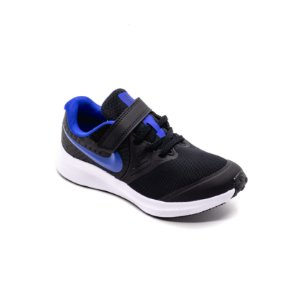 Tênis Esportivo Nike Star Runner 2 PSV Infantil Unissex Preto e Azul