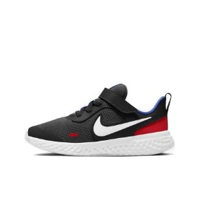 Tênis Esportivo Nike Revolution 5 PSV Infantil Unissex Preto