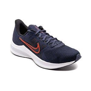 Tênis Esportivo Nike Downshifter 11 Masculino Azul Marinho e Vermelho