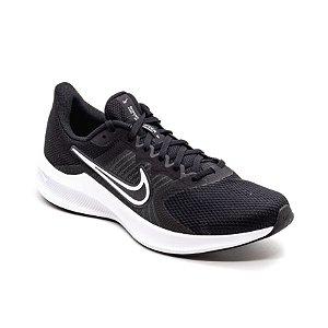 Tênis Esportivo Nike Downshifter 11 Masculino Preto e Branco