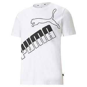 Camisa Algodão Puma Big Logo Masculina Branca
