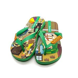 Chinelo Ipanema Infantil Masculino Verde e Laranja
