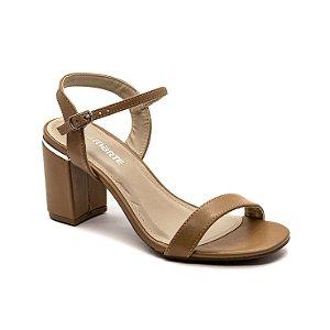 Sandalia Salto Grosso Via Marte Feminina Mascavo