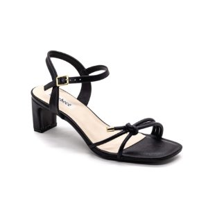 Sandalia Salto Grosso Bebece Feminino Preto