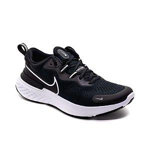 Tênis Esportivo Nike React Miler 2 Masculino Preto