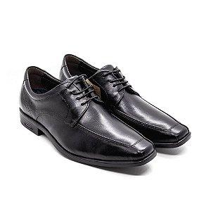 Sapato Social Bico Largo Democrata Masculino Preto