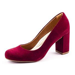 Sapato Salto Lumman Feminino Bordô