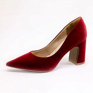 Sapato Scarpin Lumman Feminino Bordo