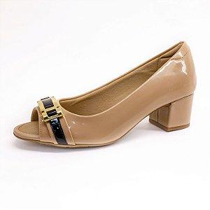 Sapato de Salto Modare Feminino Bege