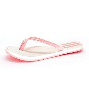 Chinelo Adidas EEZAY Feminino Branco e Rosa