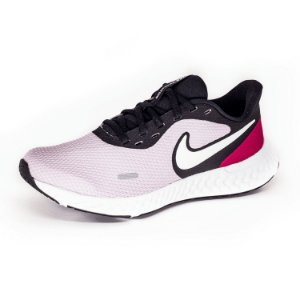 Tênis Esportivo Nike Revolution 5 Feminino Lilás e Branco