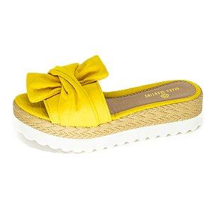 Tamanco Slide Mara Martins Feminino Amarelo