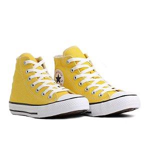 Tênis Casual Converse All Star Cano Alto Unissex Amarelo