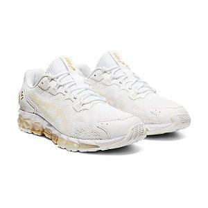 Tênis Esportivo Asics GEL-Quantum 360 6 Feminino Branco e Dourado