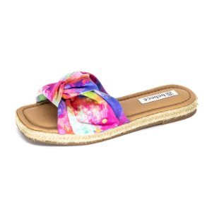 Sandália Plataforma Bebecê Feminina Tie Dye