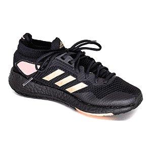 Tênis Esportivo Adidas Pulseboost Feminino Preto/Rosa