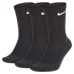 Meia Nike Everyday Cushion Crew Unissex Preta (Kit 3 pares)