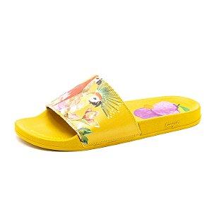 Chinelo Slide Farm Praiana Quinta-feira Feminino Amarelo
