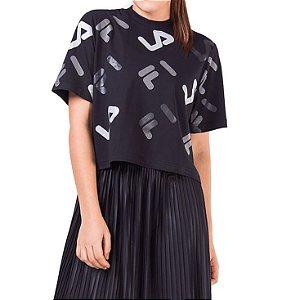Camisa Fila Full Croped Feminina Preta