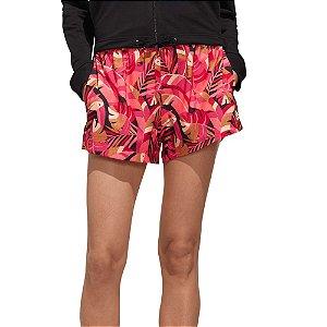 Short Adidas Women X FARM Feminino Estampado Rosa