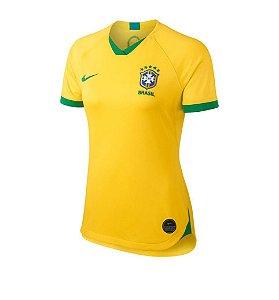 Camisa Oficial Nike Seleção Brasileira I Nike 2019/20 Feminina Amarela