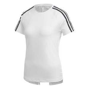 Camisa Adidas Design 2 Move 3-Stripes Feminina Branca