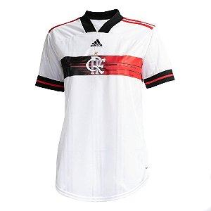 Camisa Oficial Adidas CR Flamengo 2 Feminina Branca