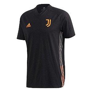 Camisa Adidas Juventus Travel Masculino Preto e Laranja