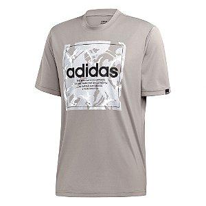 Camisa Adidas Box Camouflage Masculina Cinza