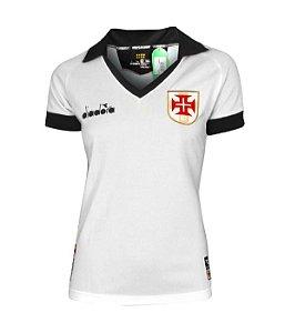 Camisa Oficial Diadora Vasco III 2019 Feminina Branca