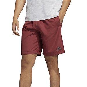 Bermuda Adidas Microfibra Plain Masculina Bordo