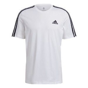 Camisa Adidas Essentials 3-Stripes Masculina Branca