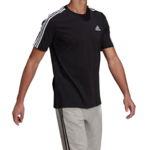 Camisa Adidas Essentials 3-Stripes Masculina Preta