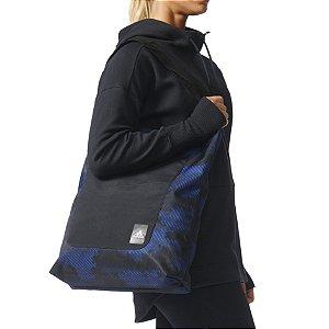 Bolsa Esportiva Adidas Feminina Preta e Azul