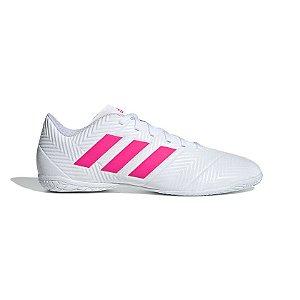 Chuteira Futsal Adidas Nemeziz Tango 18.4 Masculino Branco e Rosa